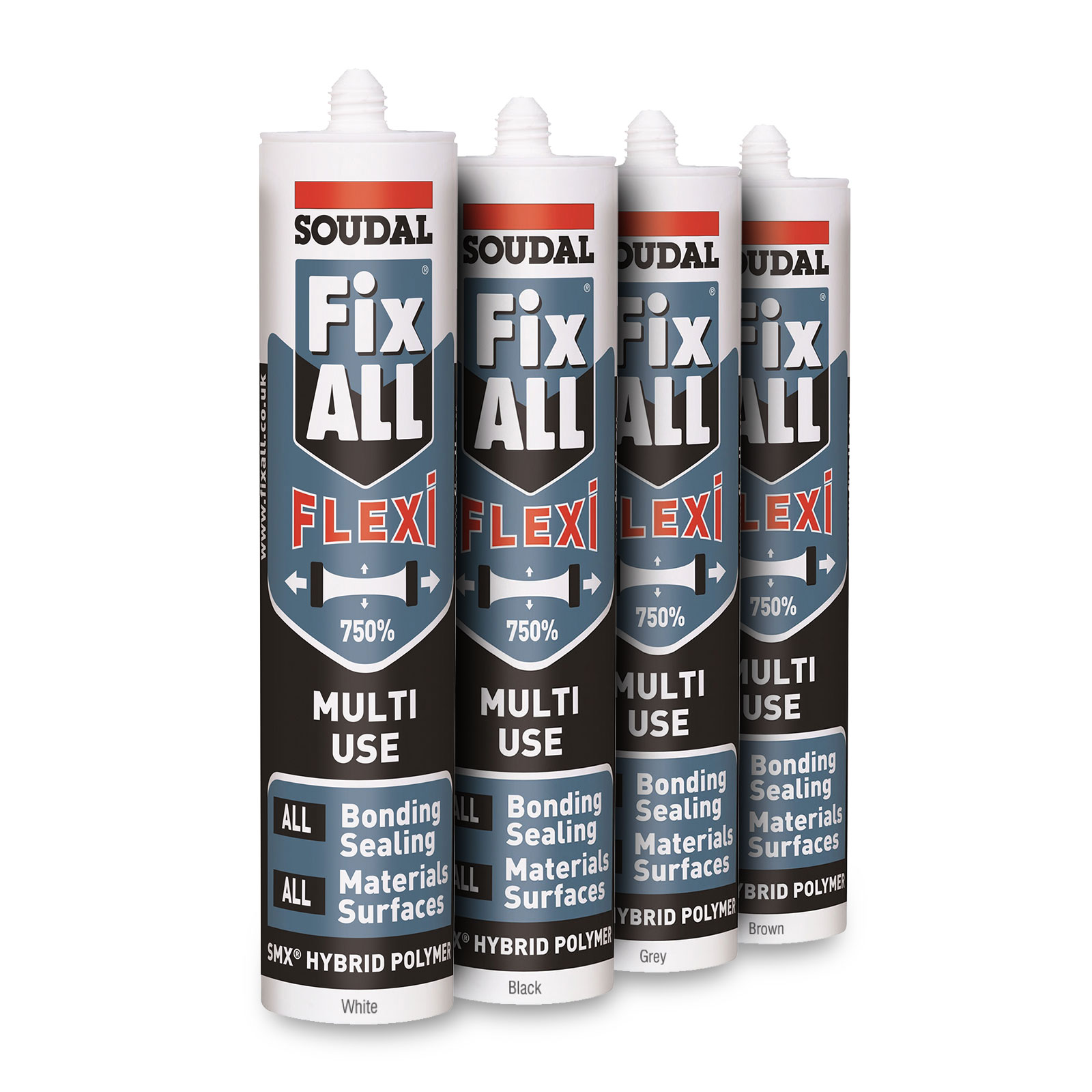 Black Soudal Fix All Flexi Sealant Amp Adhesive Neutral Smx