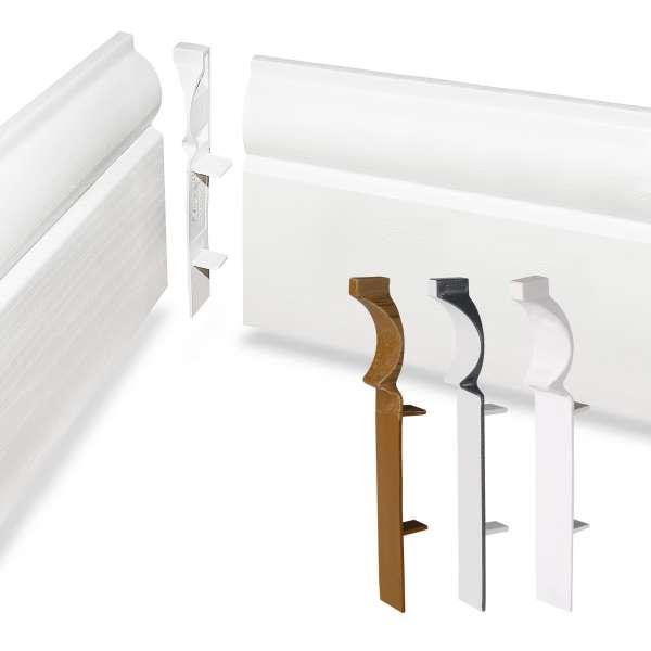 Internal Corner Trim for 100mm Torus Ogee Roomline Plastic Skirting Board