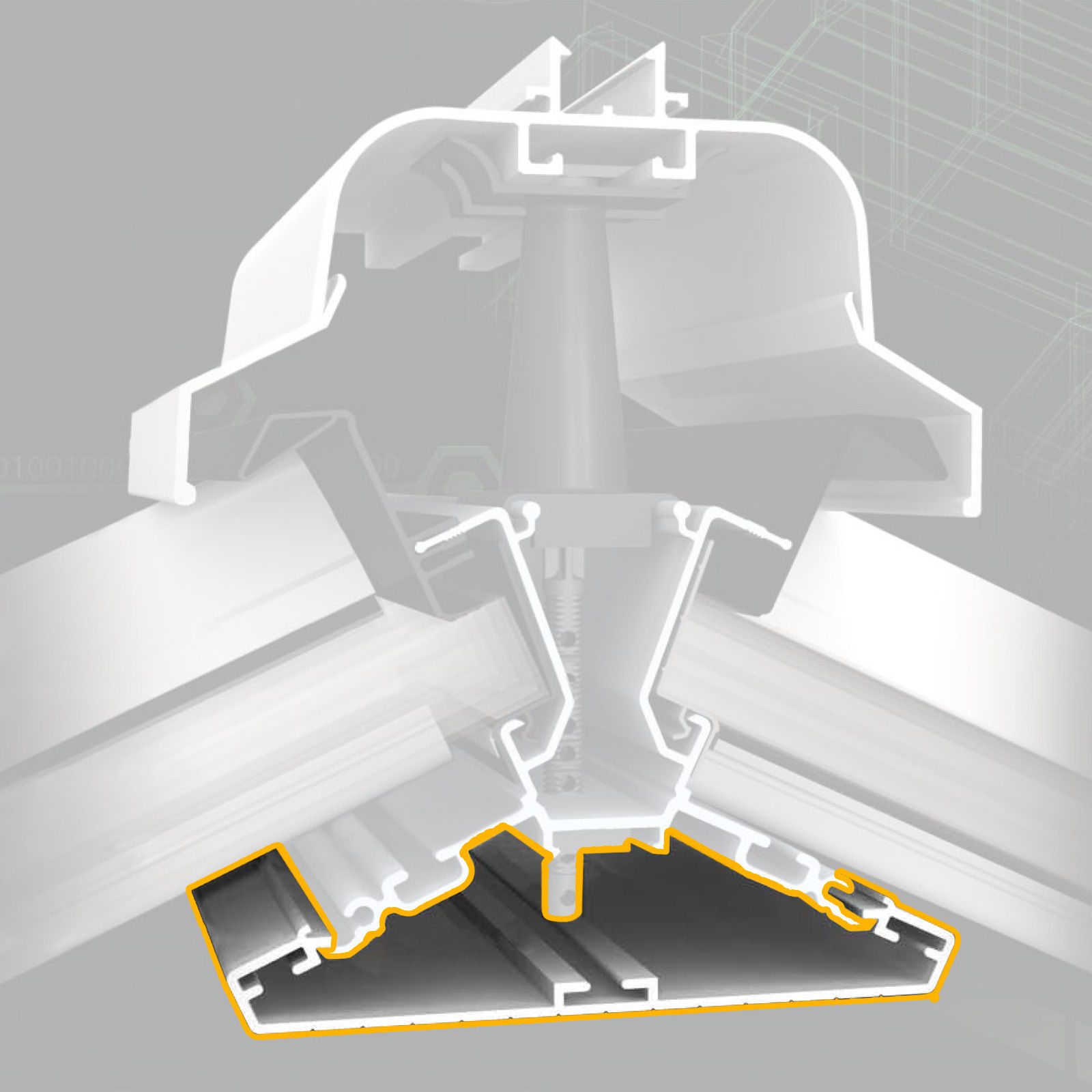 150mm Ridge Undercladding For Ultraframe Classic