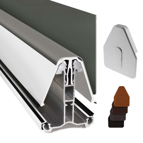 Heavy Duty Self-Supporting Roof Wall Glazing Bar for Conservatory Lean-to Roof