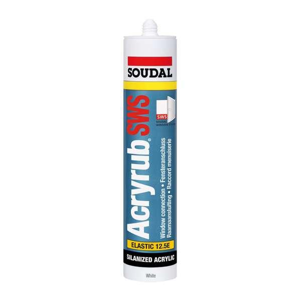 Soudal Acryrub SWS Sealant Premium Paintable Elastic Acrylic Decorators Filler