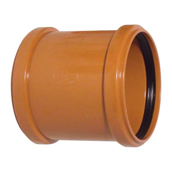 Slip Coupler (Double Socket) - 110mm Plastic PVC-u Underground Drainage System Fittings
