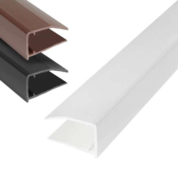 10mm Polycarbonate Sheet End Closure uPVC Plastic U Profile