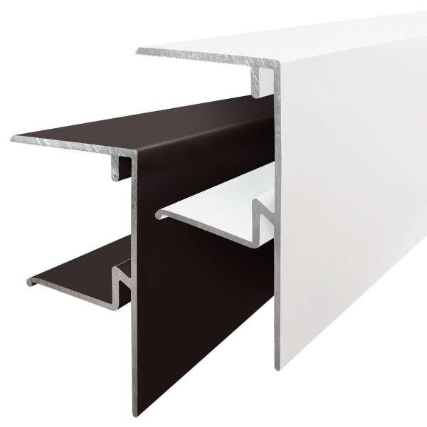 35mm ALUKAP-XR Aluminium F-Section Endstop Bar End Edge Trim Profile