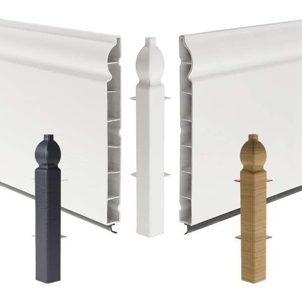 Ogee 90° External Corner Joint for Roomline 150mm Plastic Skirting Board