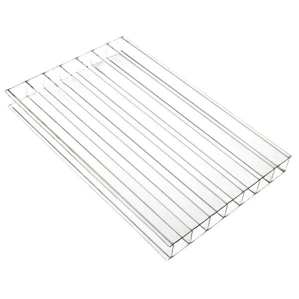 10mm Clear Twin-Wall Polycarbonate Sheet Roof Panel