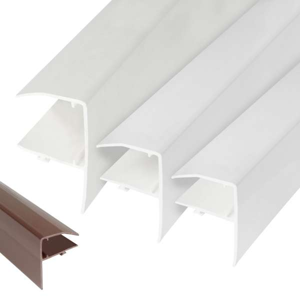 Sunwood Snap-Tight Edge Trim Lean-to Gable End F-Section Trim