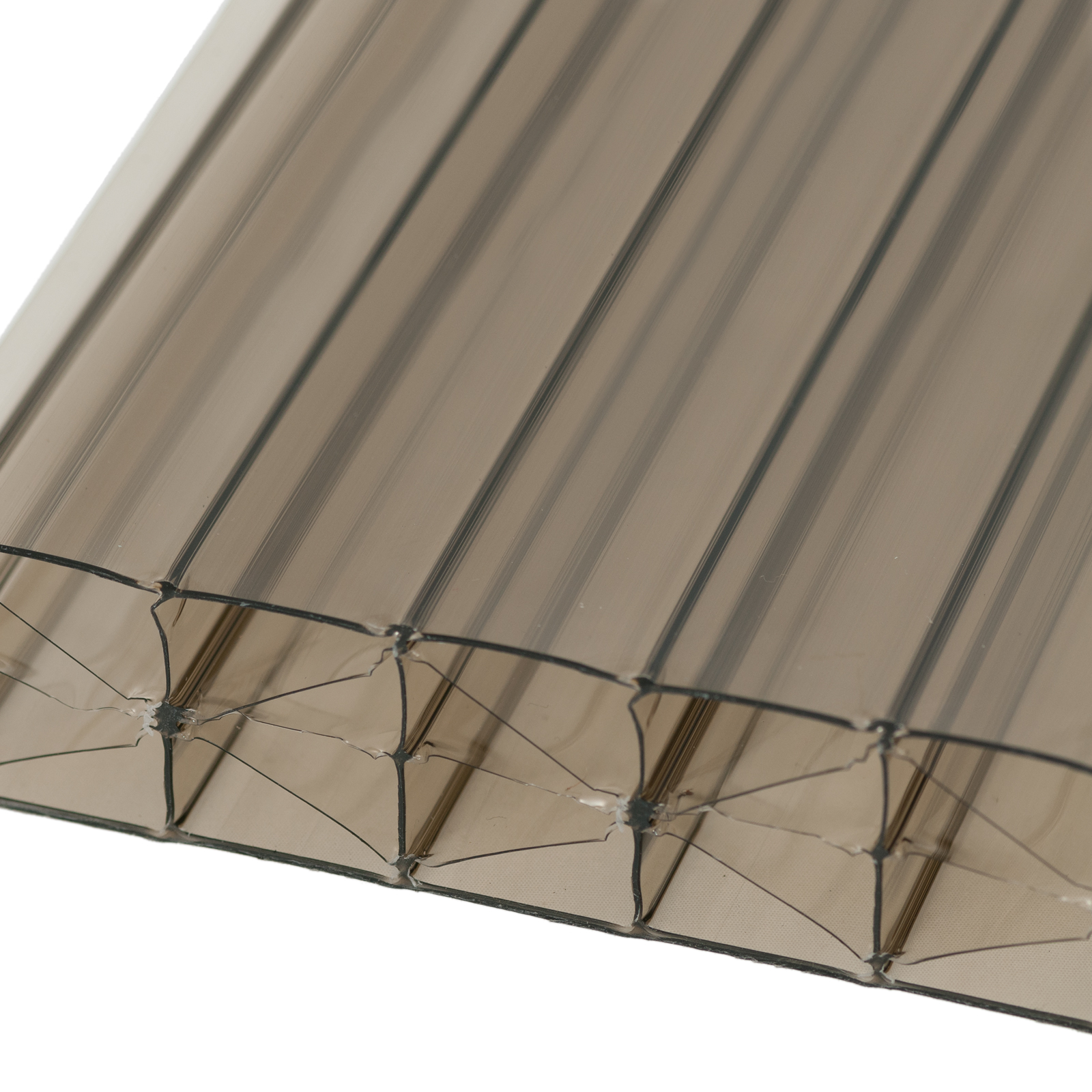 35mm Bronze Polycarbonate Multiwall Sheets Truly Pvc