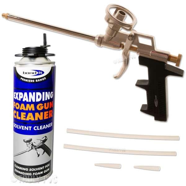 Pro PU Expanding Foam Gun + Cleaner