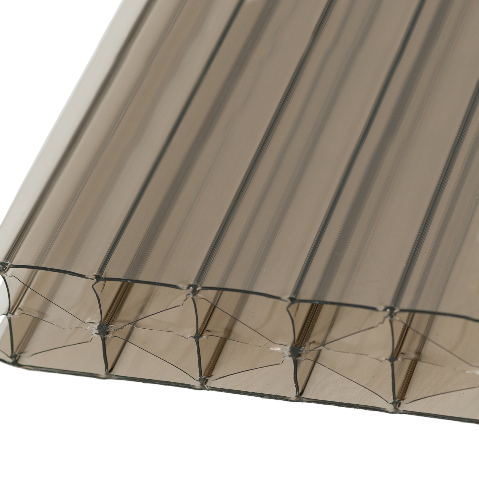 25mm Bronze Polycarbonate Multiwall Sheets Truly Pvc