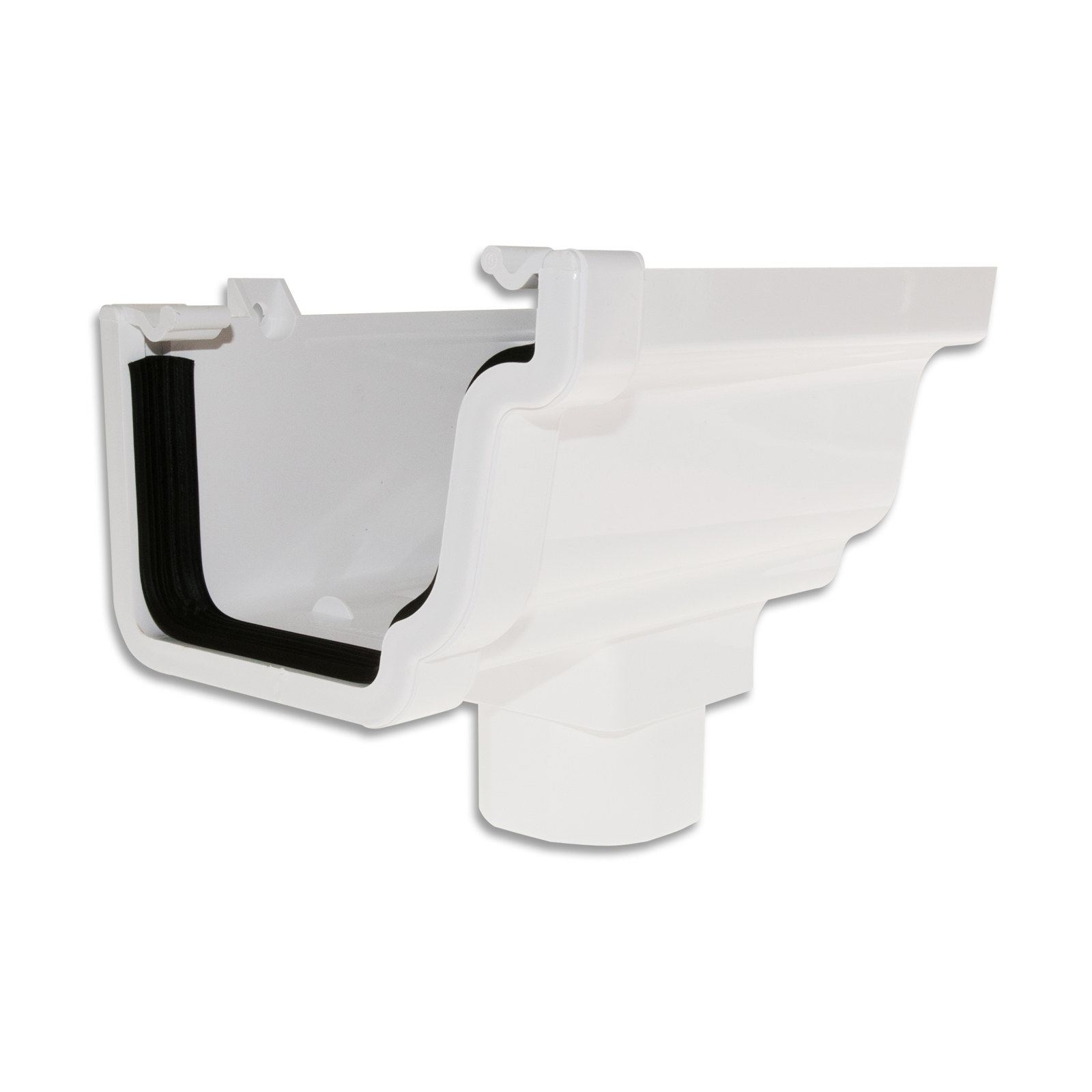 Rwk02 Gutter Stopend Outlet Right Truly Pvc