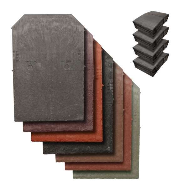 100 x Tapco Slate Synthetic Roof Tiles Plastic Composite Roofing