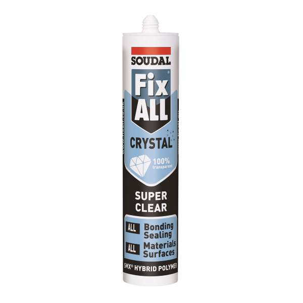 Soudal Fix ALL Crystal Clear Silicone Sealant Adhesive
