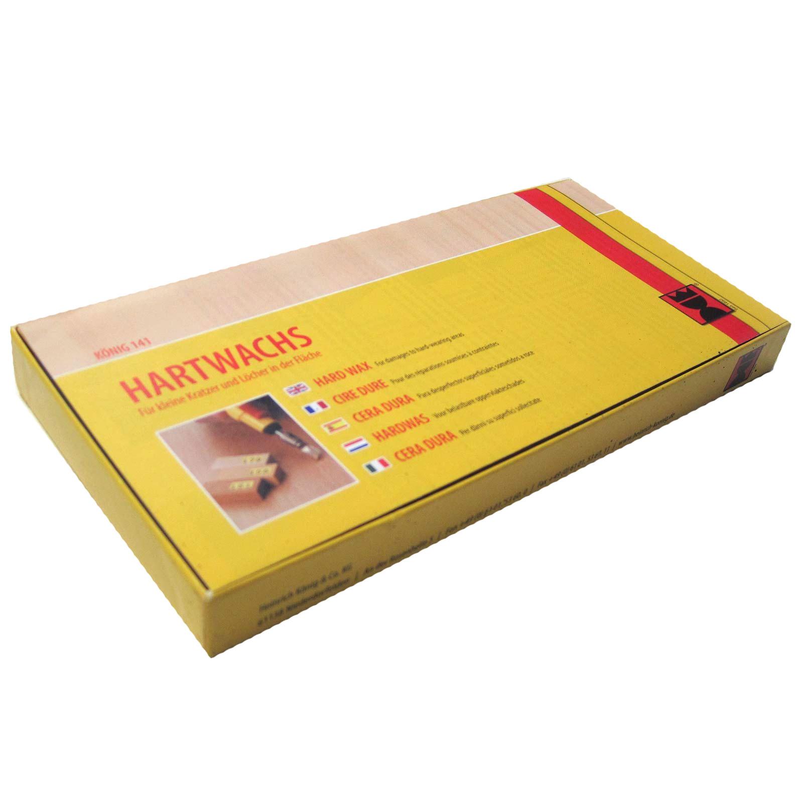 Konig Hard Wax 10 Pack Black Brown 2984 Truly Pvc