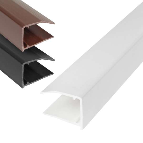 16mm Polycarbonate Sheet End Closure uPVC Plastic U Profile
