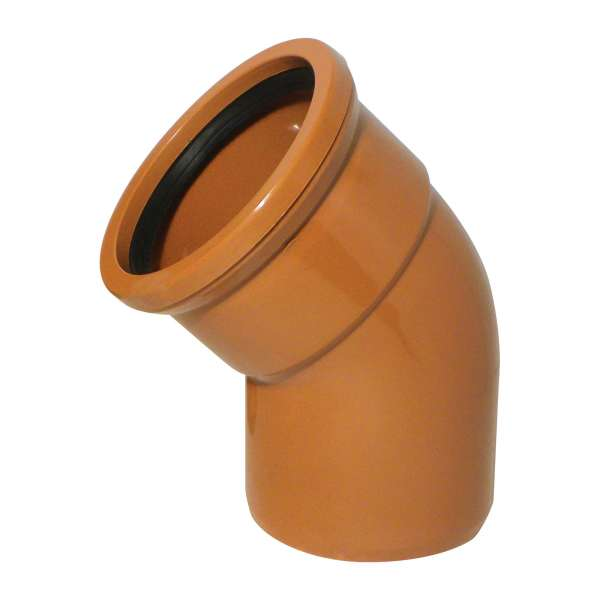 45° Bend (Single Socket) for 110mm Plastic PVC-u Underground Drainage System Fittings