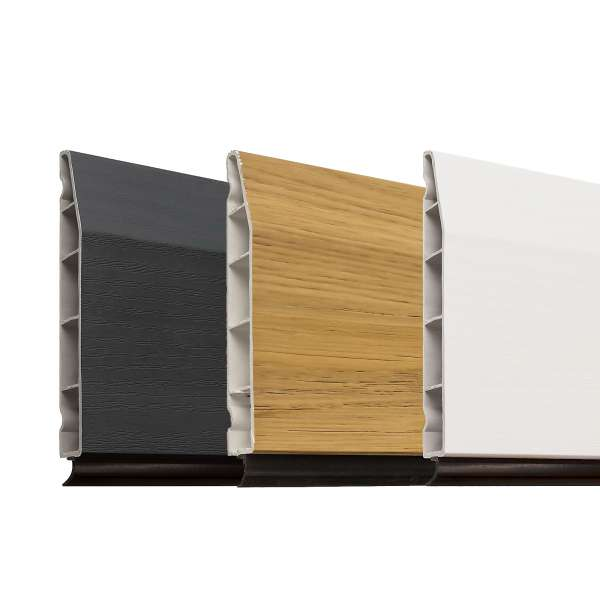 "100mm 4"" Modern Chamfered Plastic Skirting Board from Roomline"