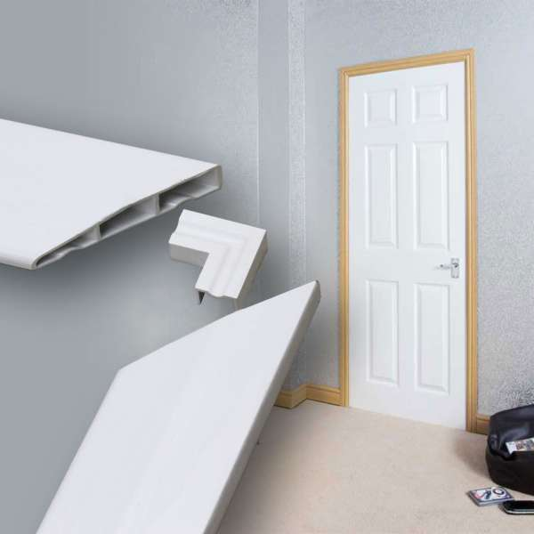 Roomline Chamfered PVCu Architrave Door Set