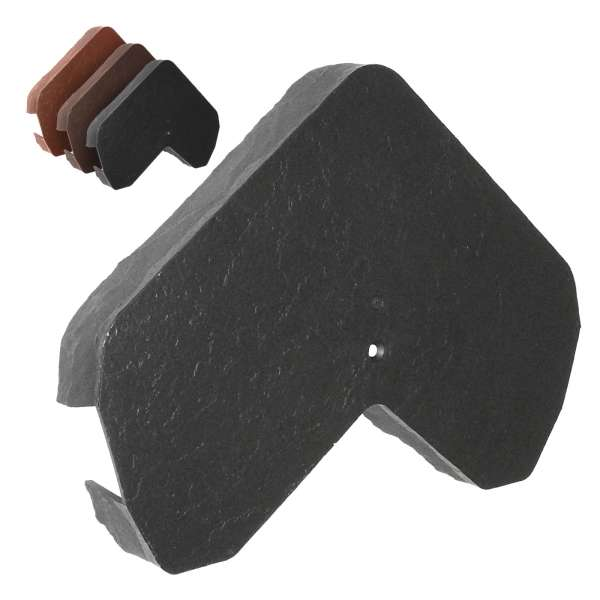 Envirotile Ridge Gable End Cap for Synthetic Plastic Roof Tile