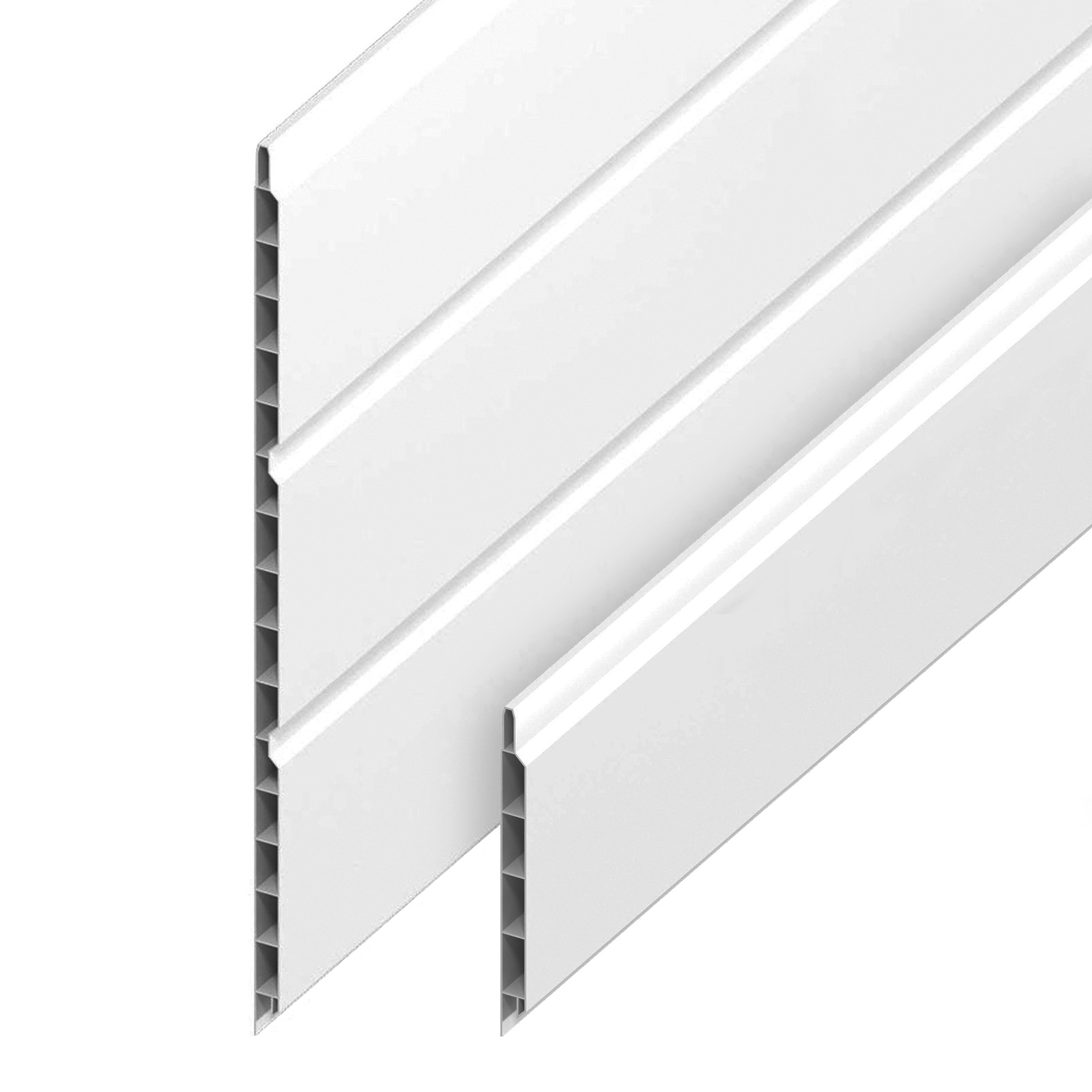 White 300mm Hollow Soffit Board5m Hollow Soffit /& Ancillaries