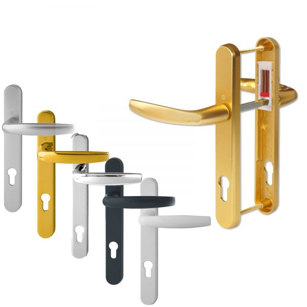 Hoppe Duraplus Atlanta Lever Handle Set (Long)