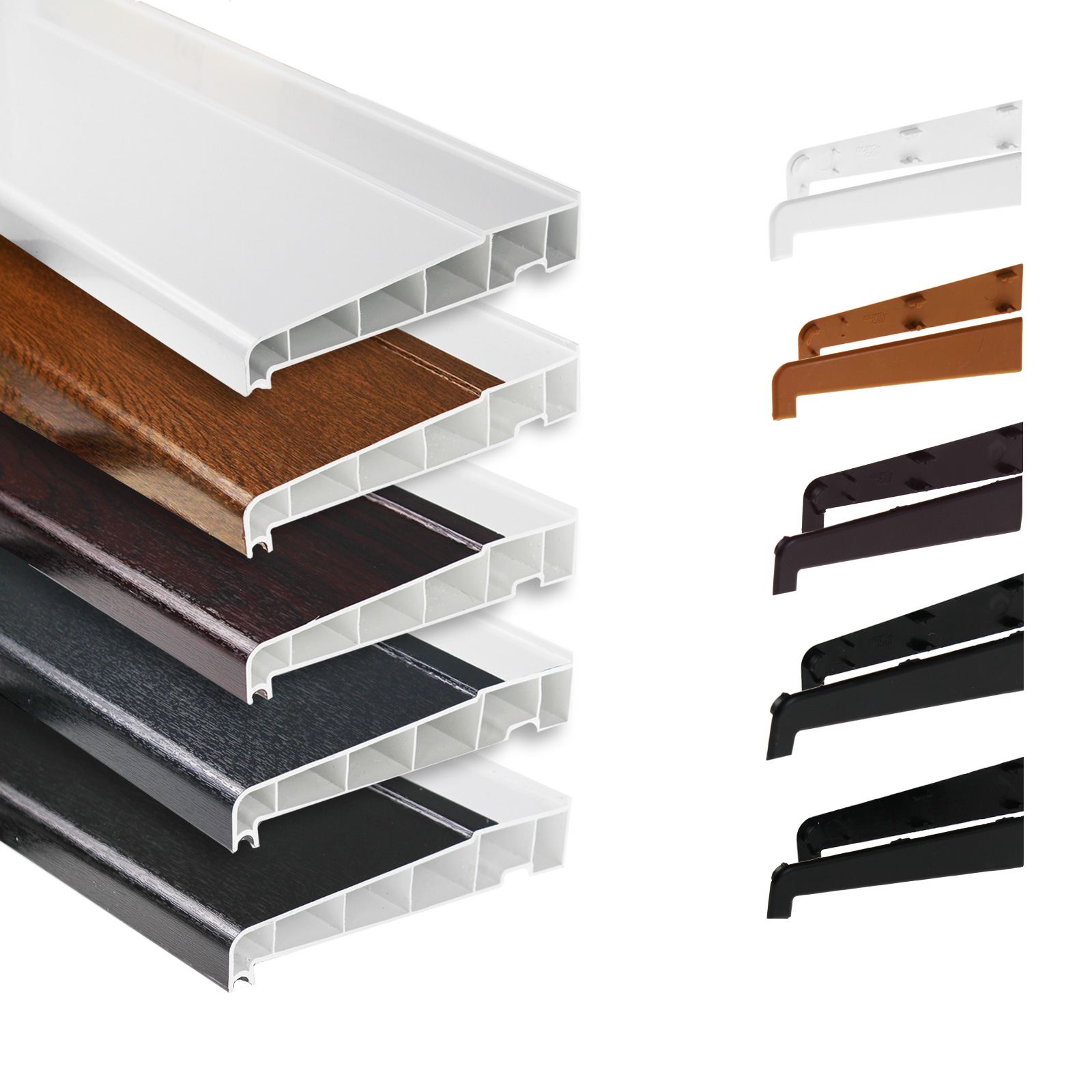 180mm Window Sill With End Caps Truly Pvc Supplies
