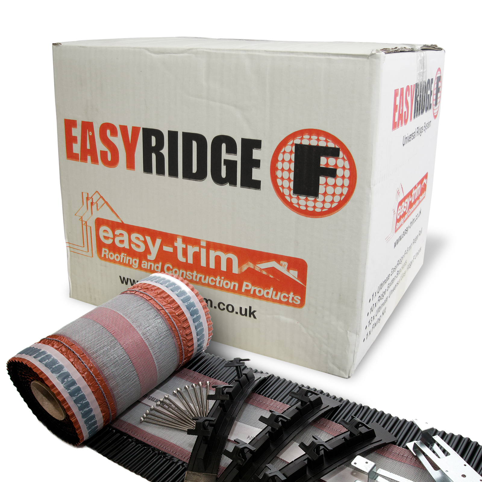 6m Easyridge F Dry Fix Ridge Kit For Half Round Of Angled Black Truly Pvc