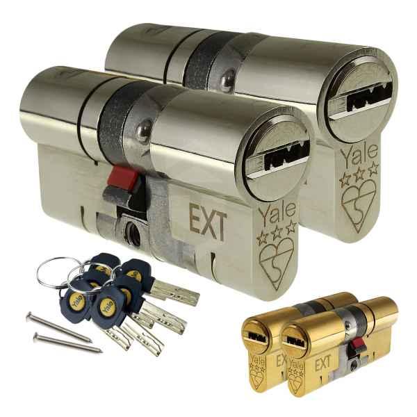Yale Platinum 3 Star Keyed-Alike Euro Cylinders